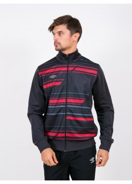 61964U T2P Track Knitted Jacket (K95) чёрно-красный